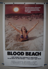 Blood Beach (1980) Horror Poster Marianna Hill - US One Sheet